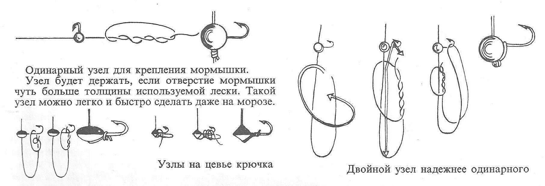 рыболовные узлы для мормышек видео