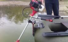 Как изготовить лодочный мотор из триммера