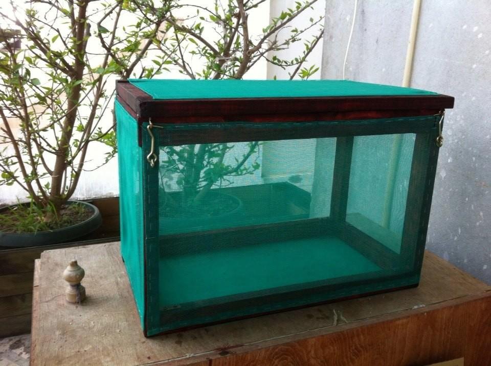 Самодельная сушилка для рыбы с сеткой