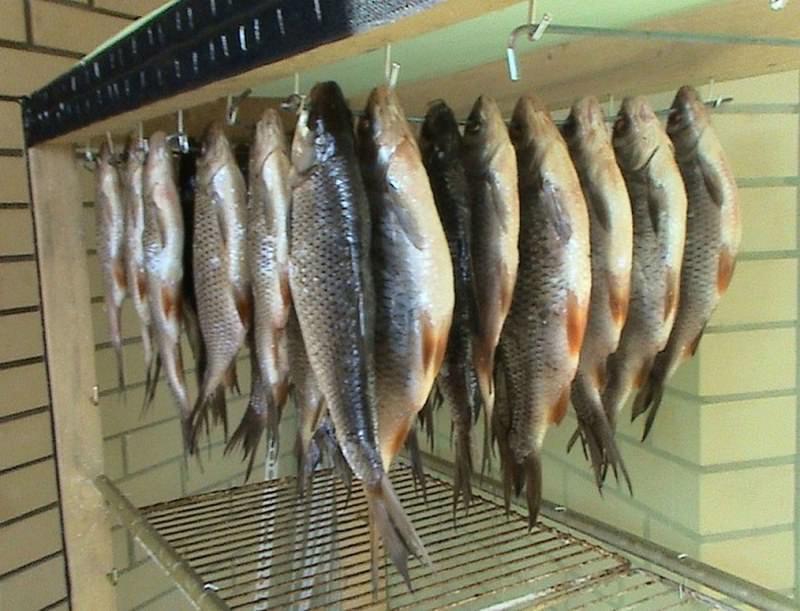 Рыба сушится