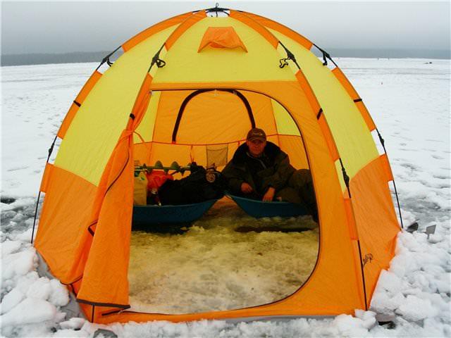 Двухместная зимняя палатка