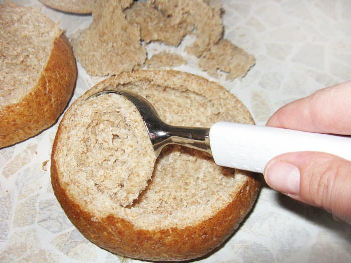 мякиш из хлеба