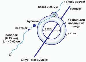 Как ловить леща на кольцо - устройство и изготовление снасти