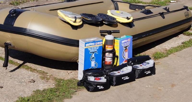 Три насоса и надувная лодка