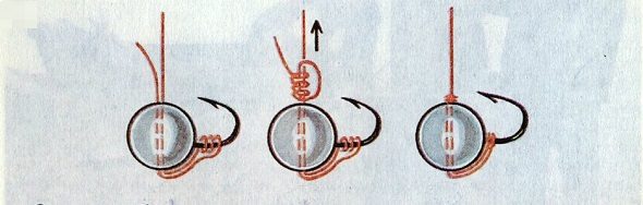 Привязывание мормышки без ушка