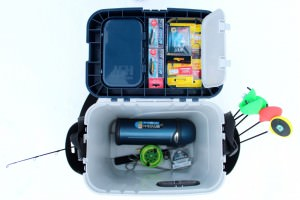 Ящик, подготовленный к рыбалке