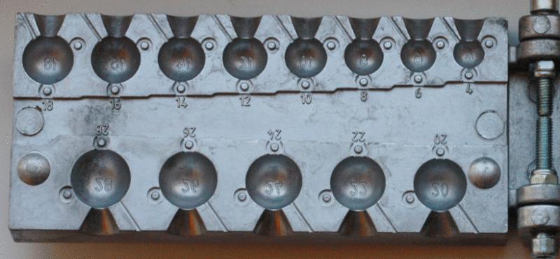 Форма для литья грузил