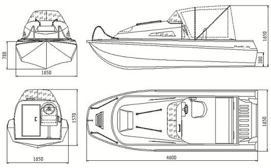 Схема лодки Казанка 5М4