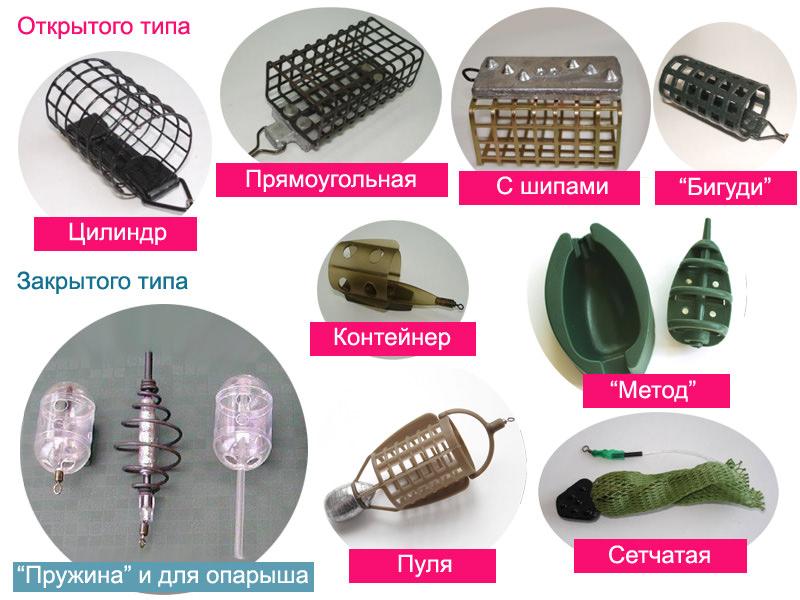 Фидерные кормушки - 10 разновидностей