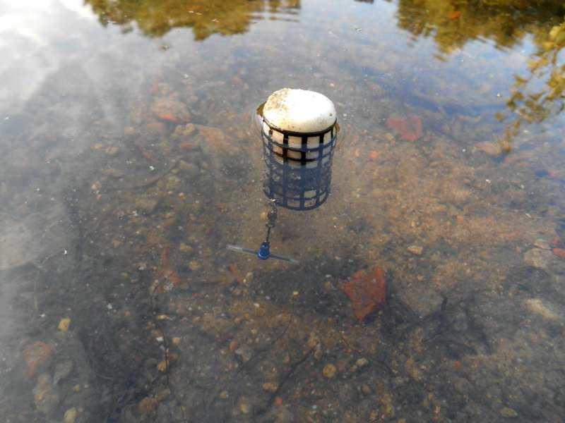 Плавающая фидерная кормушка